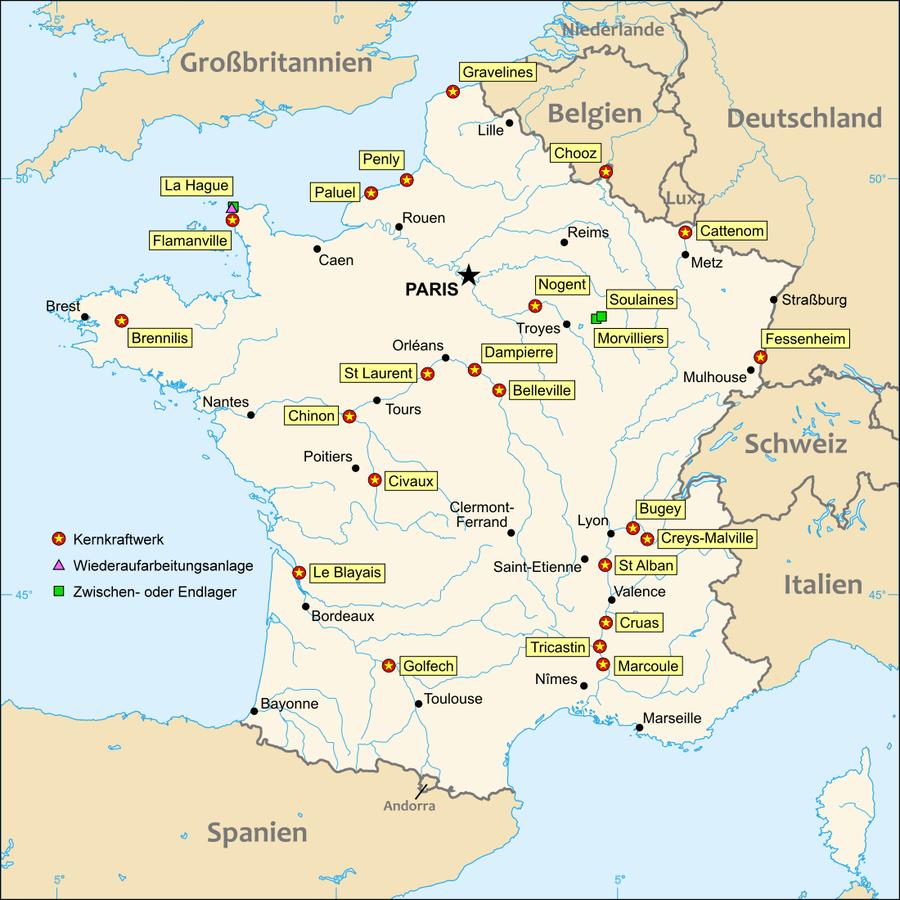 Kernkraftwerke in Frankreich