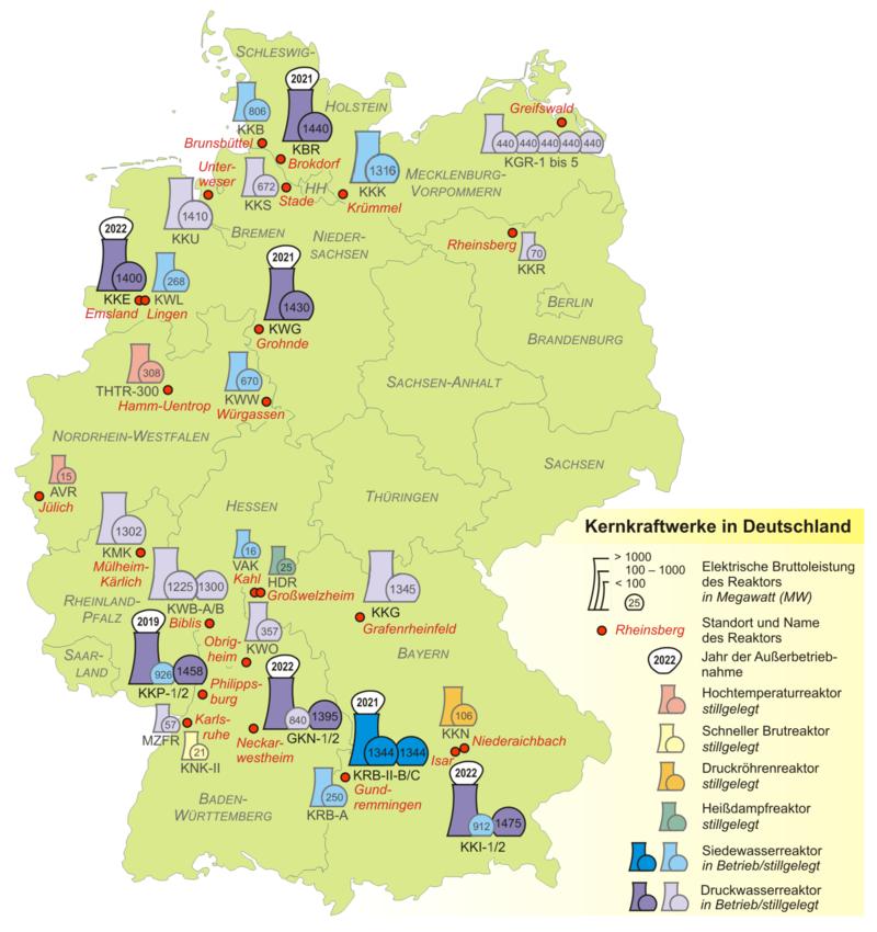 Kernkraftwerke in Deutschland